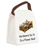 FlowerBed Canvas Lunch Bag