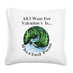 ValentinesPeas Square Canvas Pillow
