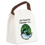 ValentinesPeas.png Canvas Lunch Bag
