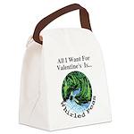 ValentinesPeas Canvas Lunch Bag