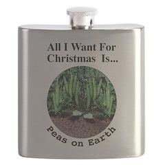 Xmas Peas on Earth Flask