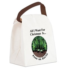 Xmas Peas on Earth Canvas Lunch Bag