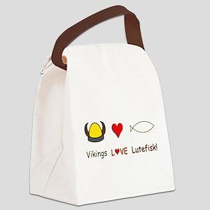VikingsLoveLutefiskT Canvas Lunch Bag
