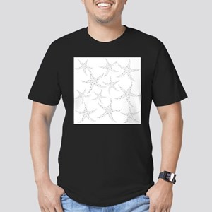 Dotty Gray Starfish. Men's Fitted T-Shirt (dark)