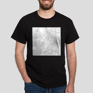 Dotty Gray Starfish. Dark T-Shirt