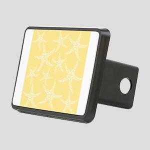 Dotty Starfish, Yellow. Rectangular Hitch Cover