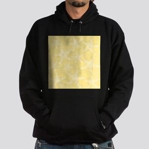 Dotty Starfish, Yellow. Hoodie (dark)