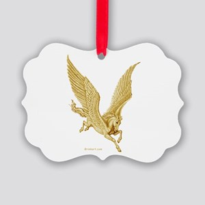 Golden Pegasus ~ Picture Ornament