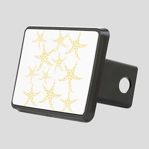 Yellow Dotty Starfish. Rectangular Hitch Cover
