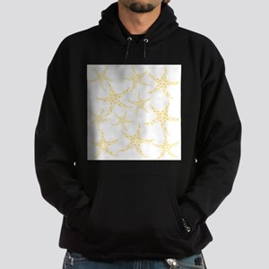 Yellow Dotty Starfish. Hoodie (dark)