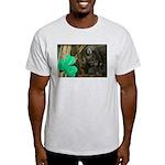 Monkey With Shamrock Light T-Shirt