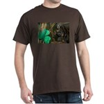 Monkey With Shamrock Dark T-Shirt