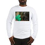 Monkey With Shamrock Long Sleeve T-Shirt