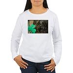 Monkey With Shamrock Women's Long Sleeve T-Shirt
