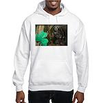 Monkey With Shamrock Hooded Sweatshirt