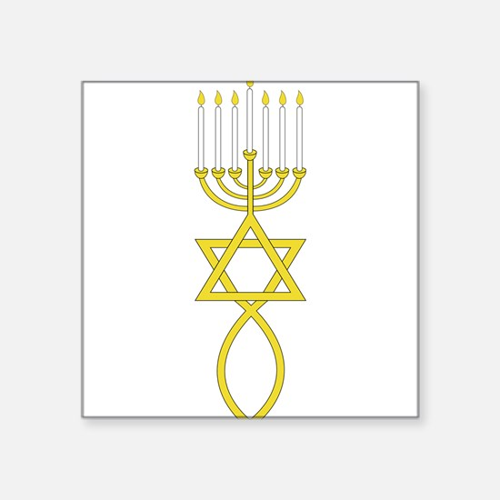 "Messianic Seal Square Sticker 3"" x 3"""