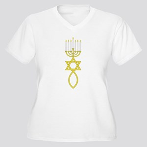 Messianic Seal Women's Plus Size V-Neck T-Shirt