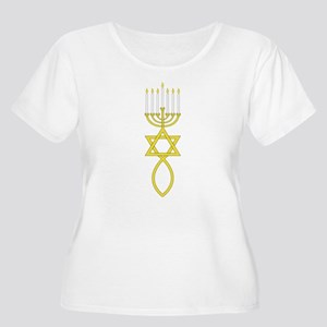 Messianic Seal Women's Plus Size Scoop Neck T-Shir