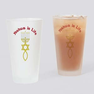 Yeshua Is Life Drinking Glass