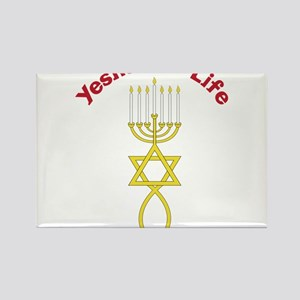 Yeshua Is Life Rectangle Magnet