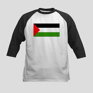 Palestine Flag Picture Kids Baseball Jersey