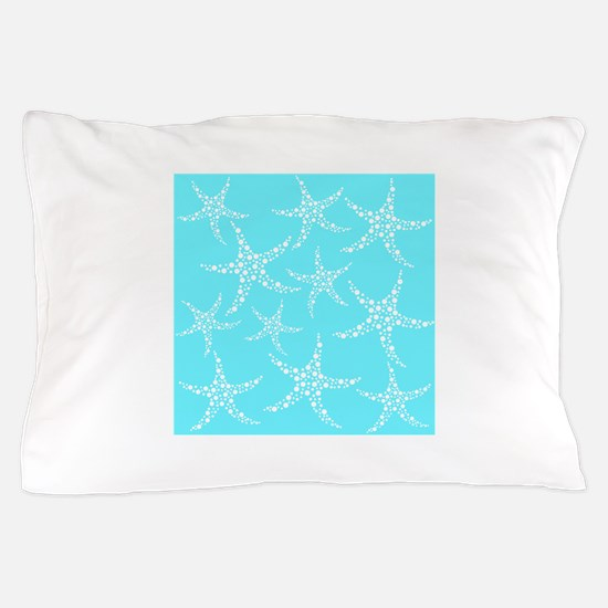 Turquoise Starfish. Pillow Case