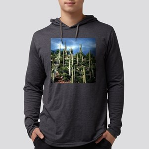 Many Saguaros In Arizona funtain Mens Hooded Shirt