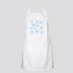 Blue Dotty Starfish Pattern. Apron