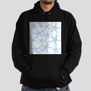 Blue Dotty Starfish Pattern. Hoodie (dark)
