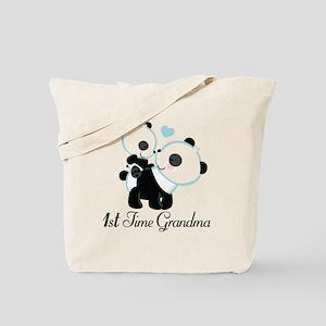 1st Time Grandma panda Tote Bag