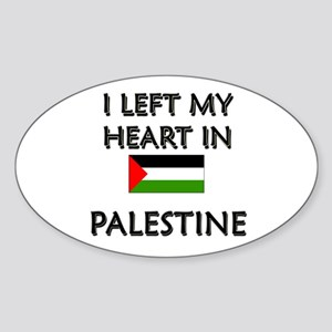I Left My Heart In Palestine Oval Sticker