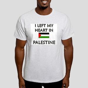 I Left My Heart In Palestine Ash Grey T-Shirt