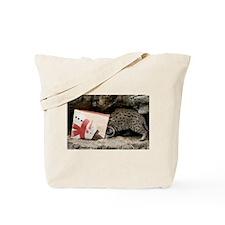 Ocelot in Snowman Bag Tote Bag