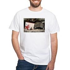 Ocelot in Snowman Bag White T-Shirt