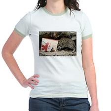 Ocelot in Snowman Bag Jr. Ringer T-Shirt