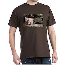 Ocelot in Snowman Bag Dark T-Shirt