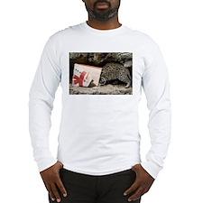 Ocelot in Snowman Bag Long Sleeve T-Shirt