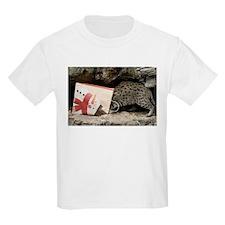 Ocelot in Snowman Bag Kids Light T-Shirt