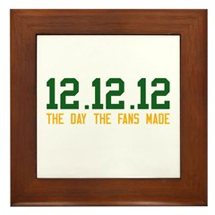 Green & Gold 12.12.12 Framed Tile