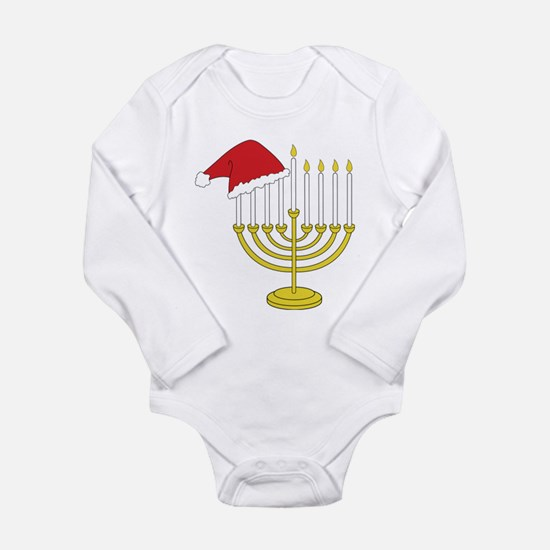 Hanukkah And Christmas Long Sleeve Infant Bodysuit