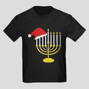Hanukkah And Christmas Kids Dark T-Shirt