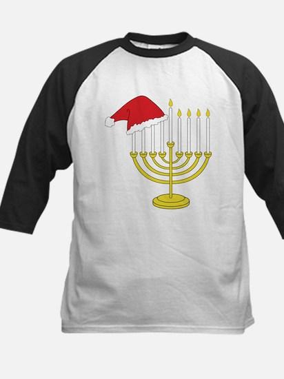 Hanukkah And Christmas Kids Baseball Jersey