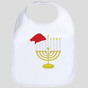 Hanukkah And Christmas Bib