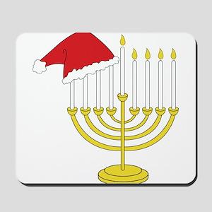 Hanukkah And Christmas Mousepad