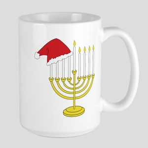 Hanukkah And Christmas Large Mug