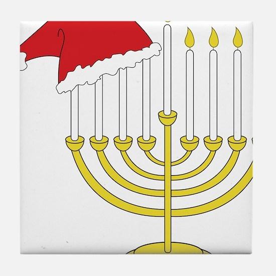 Hanukkah And Christmas Tile Coaster