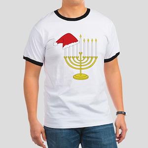Hanukkah And Christmas Ringer T