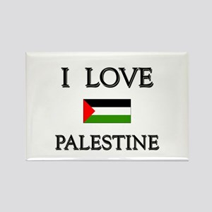 I Love Palestine Rectangle Magnet
