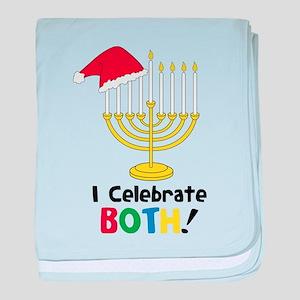 I Celebrate Both baby blanket