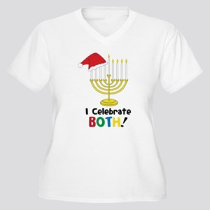 I Celebrate Both Women's Plus Size V-Neck T-Shirt